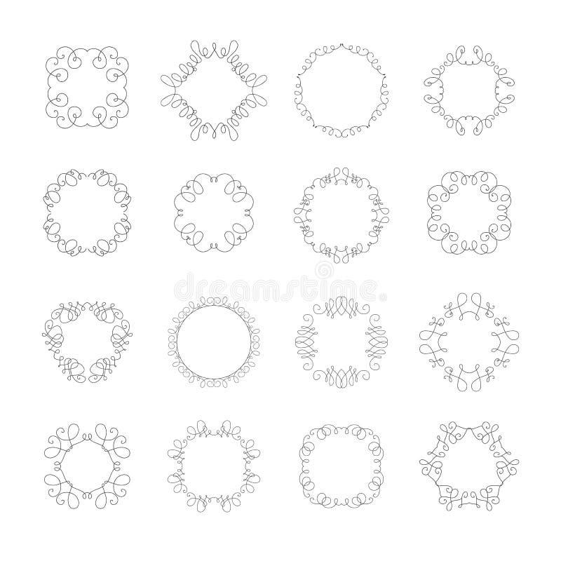 Ställ in lyxigt tecken vektor illustrationer