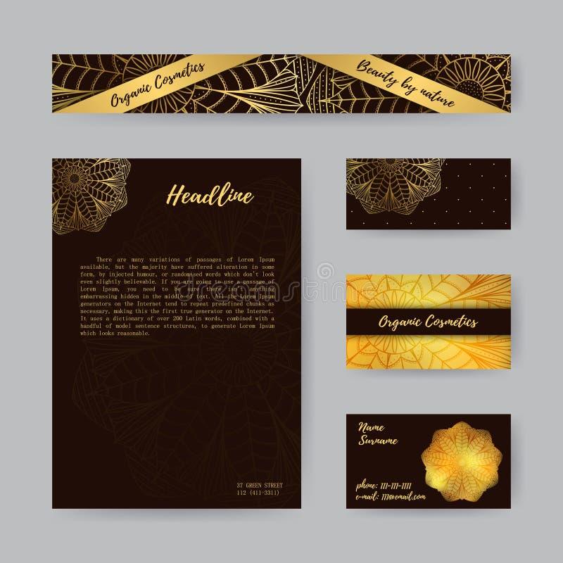 Ställ in med Mandala2 stock illustrationer