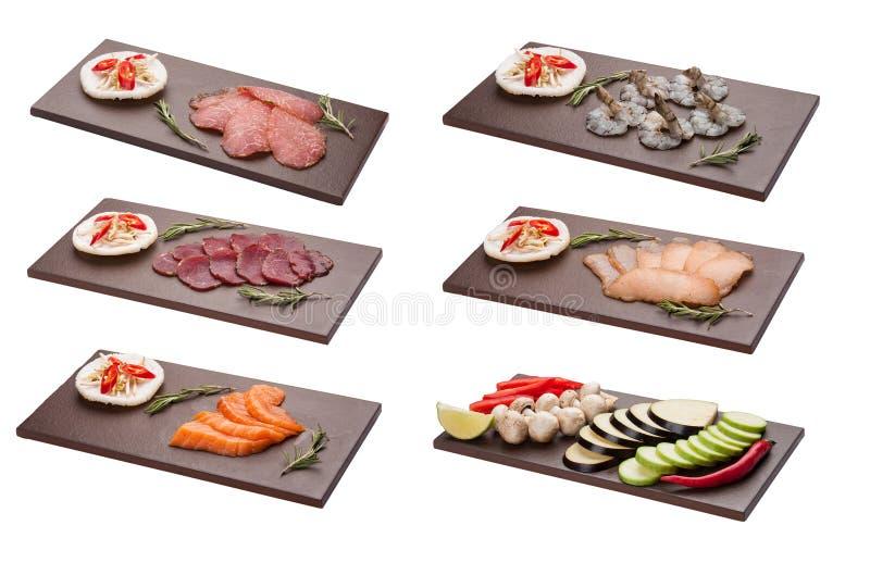 St?ll in med mellanm?lingredienser f?r thail?ndskt galler asiatisk kokkonst arkivbild