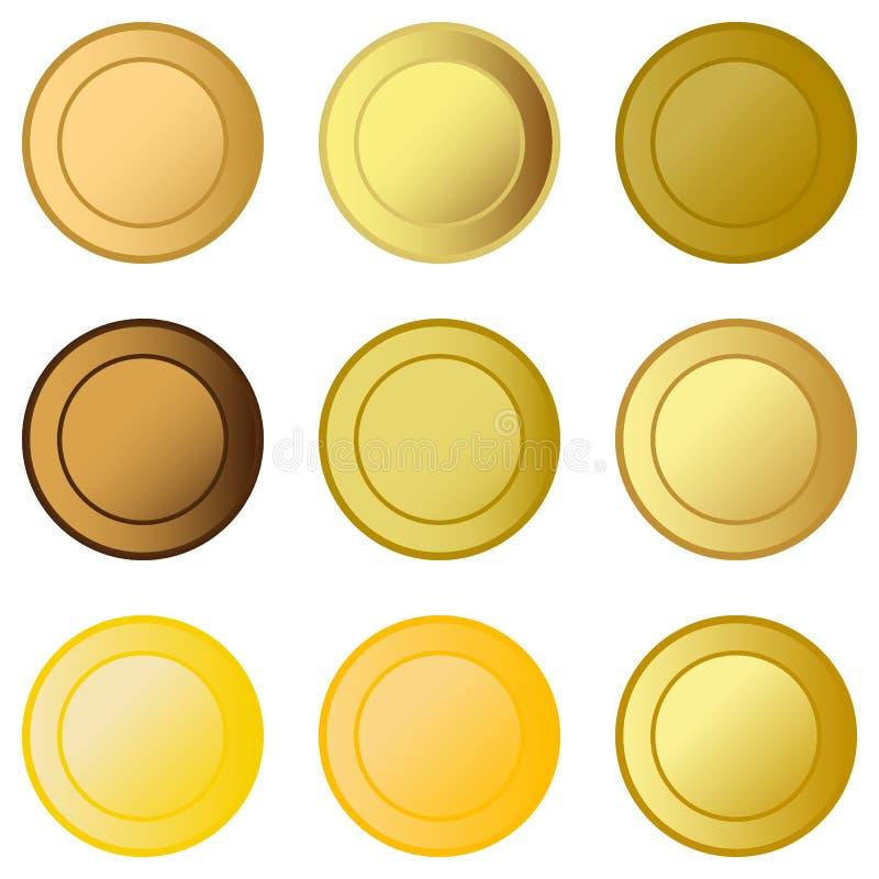 Ställ in medaljer vektor illustrationer