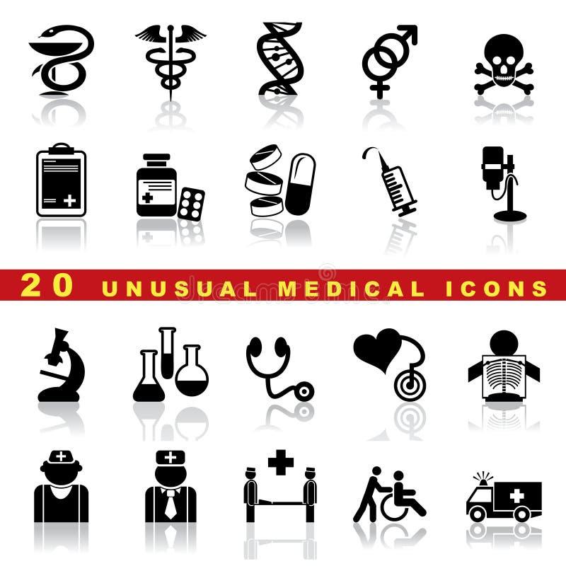 Ställ in medicinska symboler vektor illustrationer