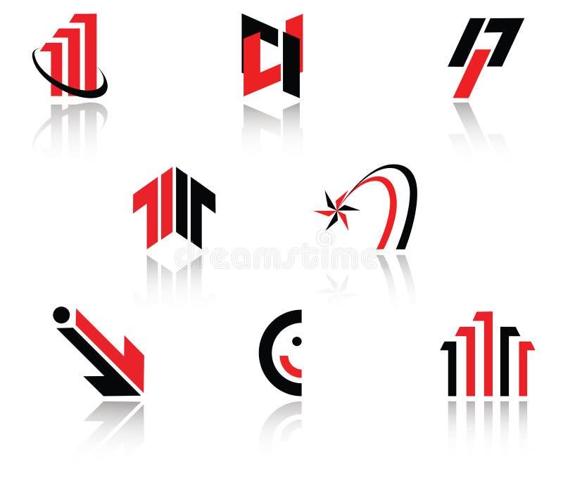 ställ in symboler vektor illustrationer