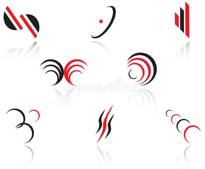 ställ in symboler royaltyfri illustrationer