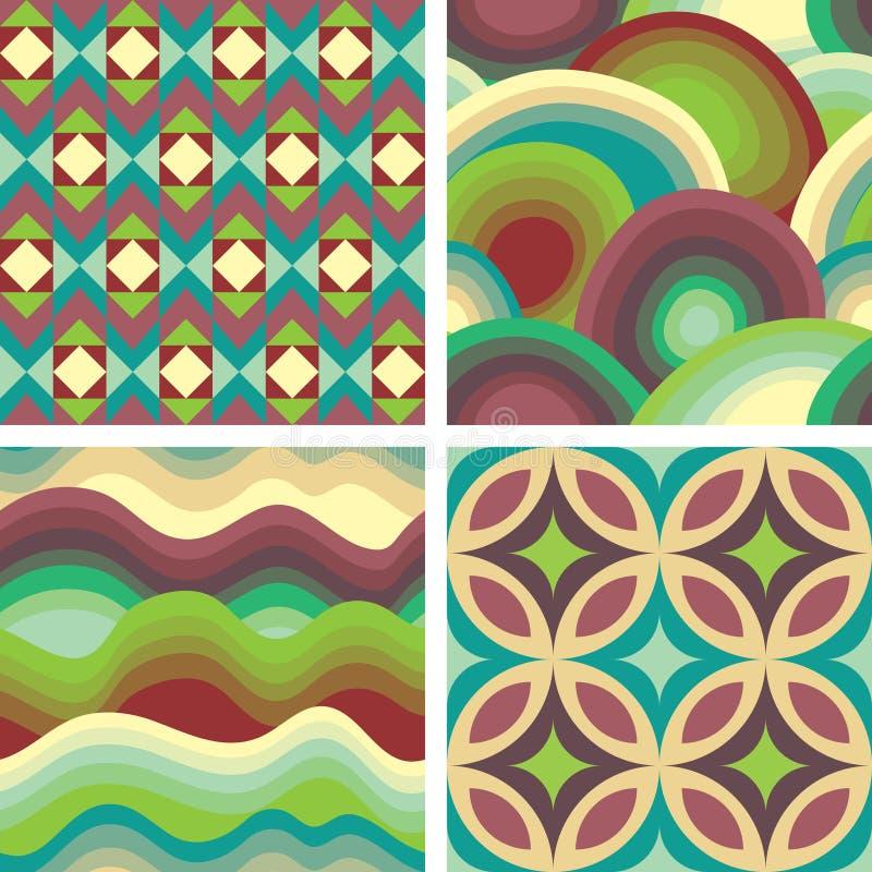 ställ in textur royaltyfri illustrationer