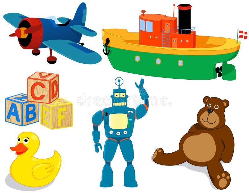 ställ in toys arkivbild