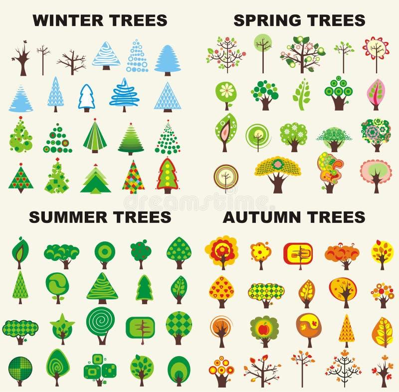 ställ in trees fotografering för bildbyråer