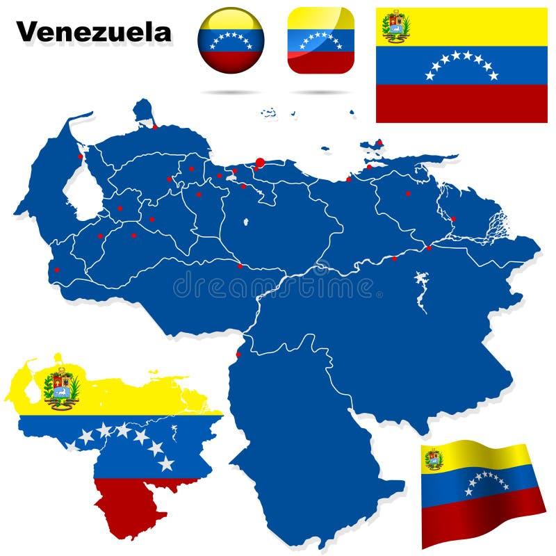 ställ in venezuela royaltyfri illustrationer