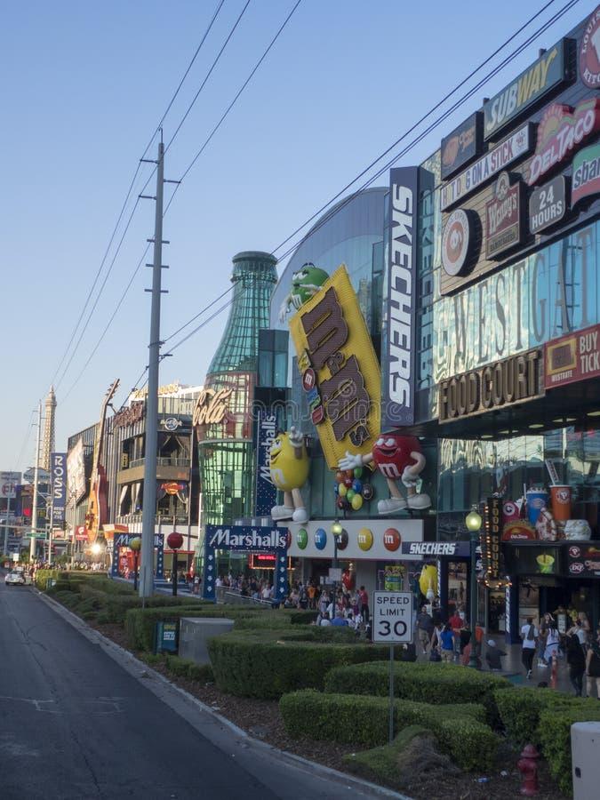 Ställa ut gallerian, Las Vegas, USA arkivfoton