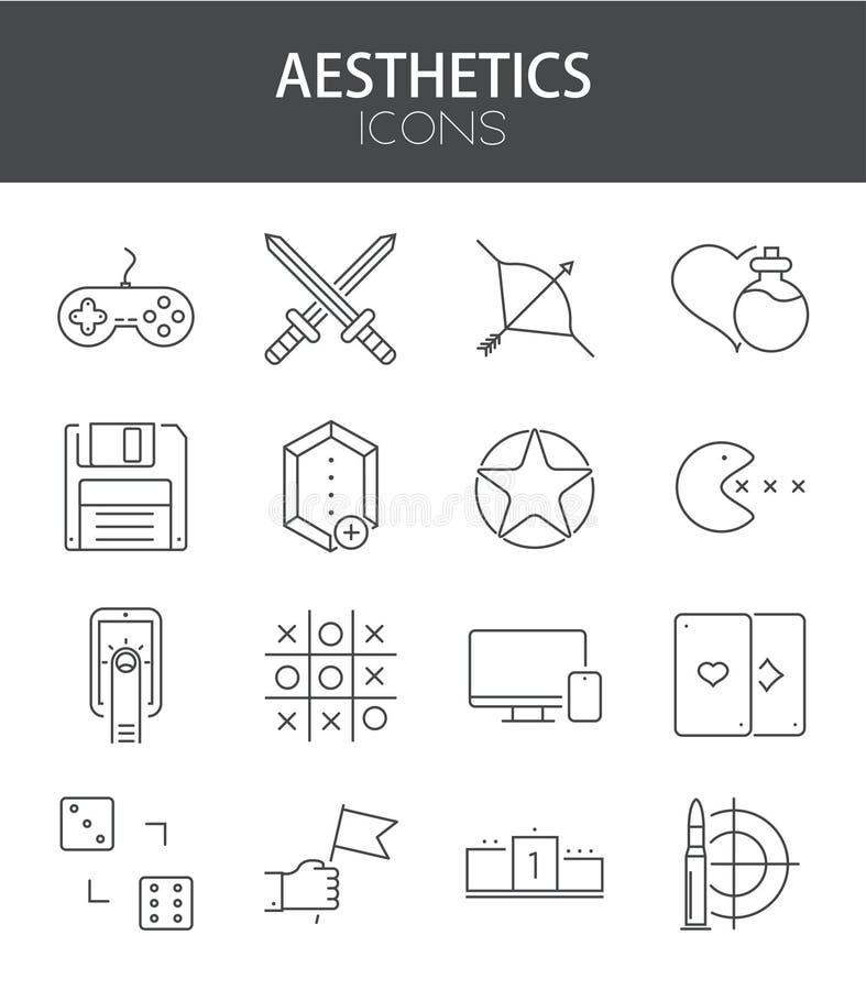 Ställde den moderna tunna linjen in lägenhetdesign för vektorn av symboler royaltyfri illustrationer