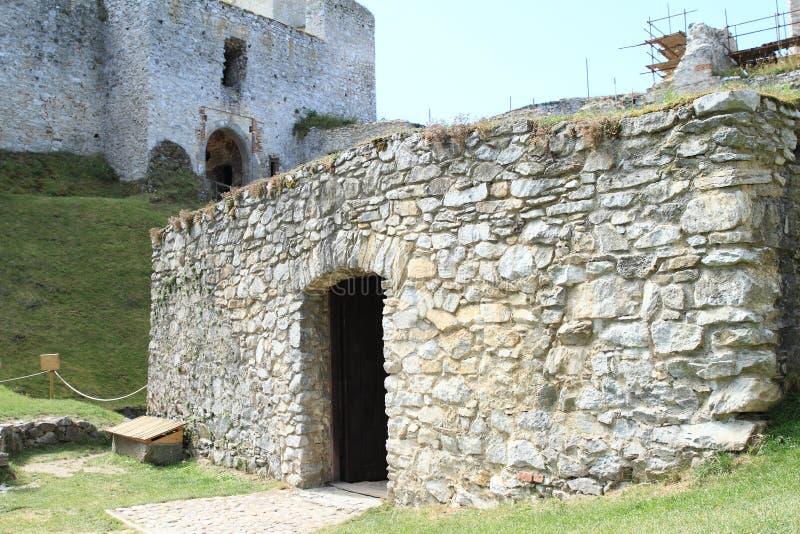 Ställe auf Schloss Rabi stockbilder