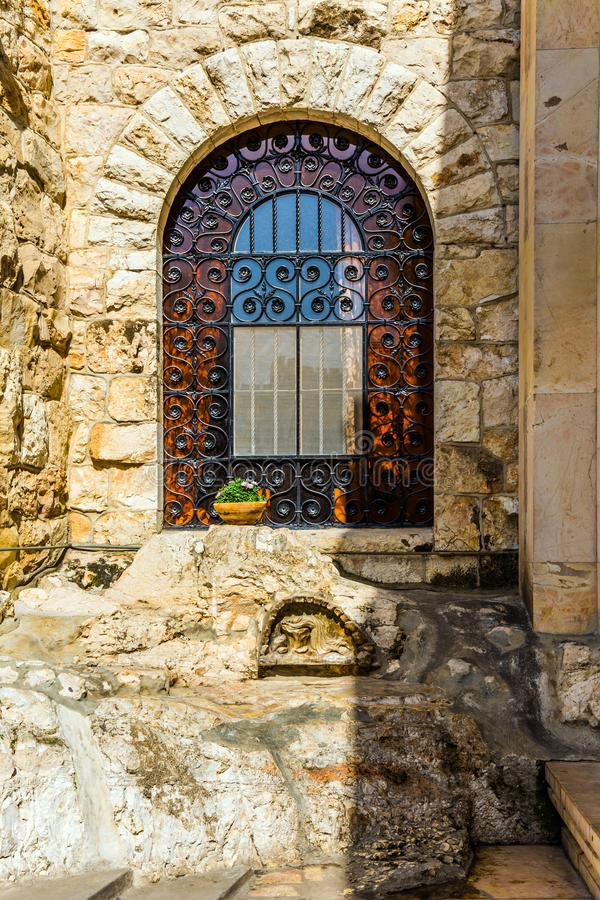 Ställe av den sista bönen av Jesus royaltyfri bild