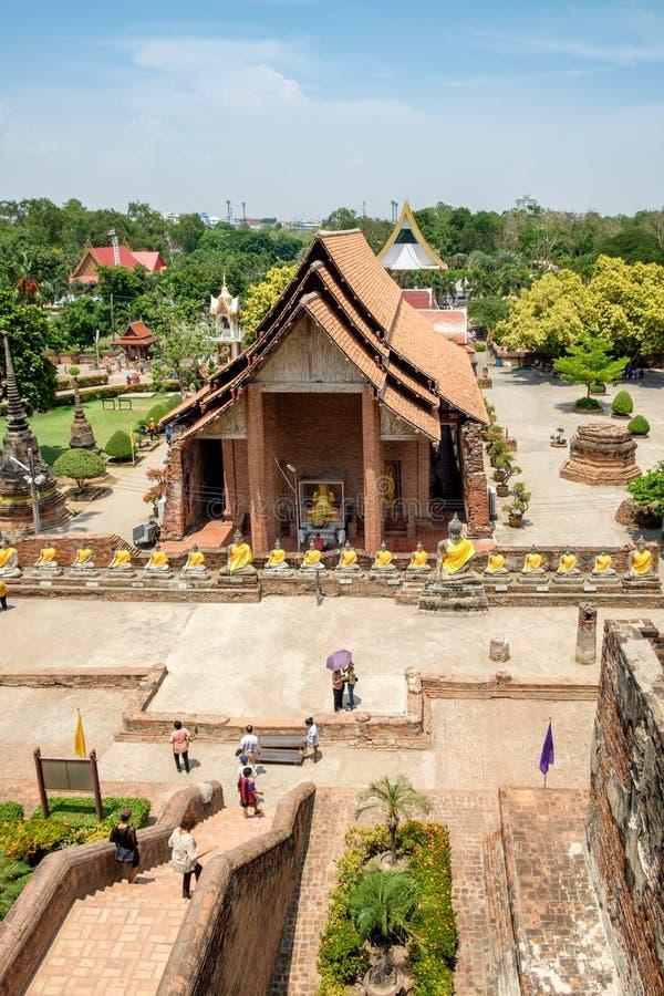 Ställe för kyrklig gavel för tempel berömt forntida av dyrkan arkivbilder