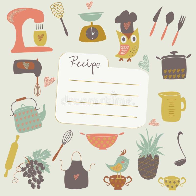 Ställe för recept royaltyfri illustrationer