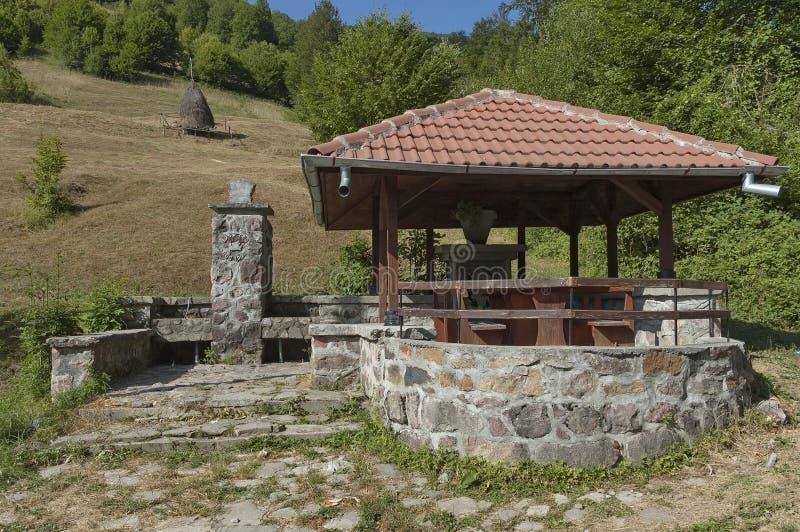 Ställe för ro i det Balkan berget royaltyfria foton