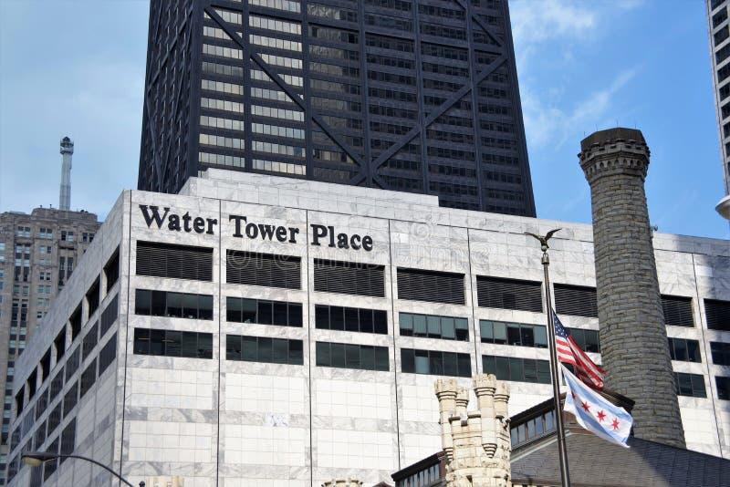 Ställe för vattentorn, Chicago, Illinois royaltyfria foton