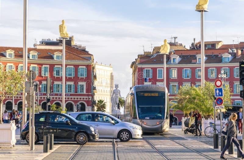 Ställe Massena i Nice, Frankrike royaltyfri bild