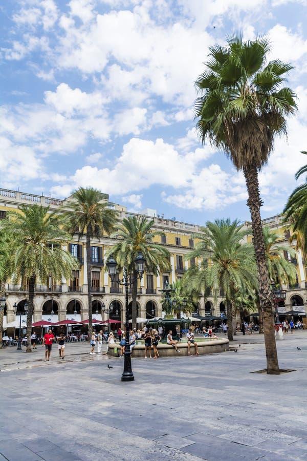 Ställe Royale i Barcelona, Spanien royaltyfria foton