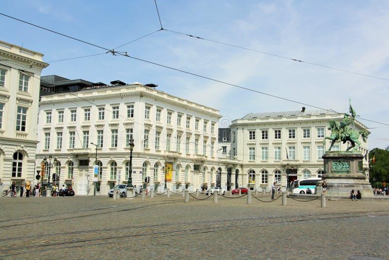 Ställe Royale med de kungliga museerna av konster av Belgien royaltyfri fotografi
