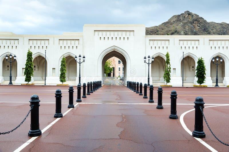 Ställe Sultan Qaboos Palace arkivfoton
