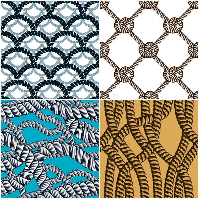 Ställer gör sammandrag det sömlösa vävde vektorer in för modeller repet, illustrativt stock illustrationer