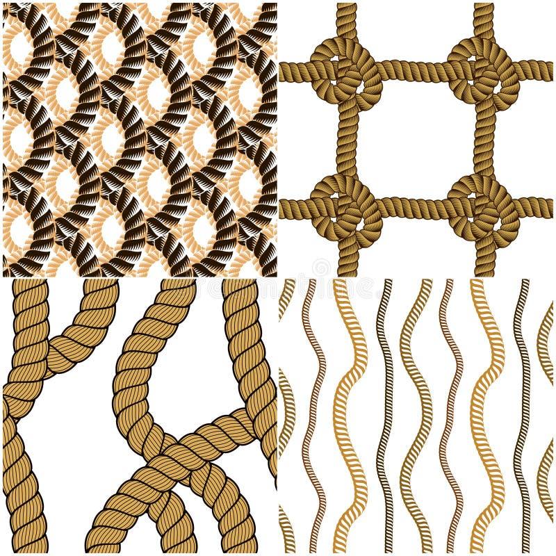 Ställer gör sammandrag det sömlösa vävde vektorer in för modeller repet, illustrativt royaltyfri illustrationer