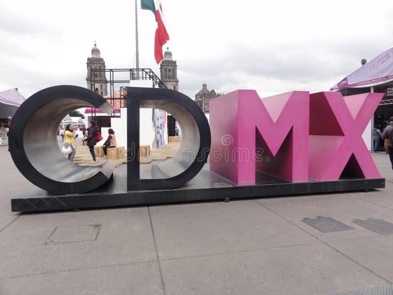 "Stället av â€en ""Ciudad de Mexico - Mexico för  för calo†för konstitution""Zó royaltyfria bilder"