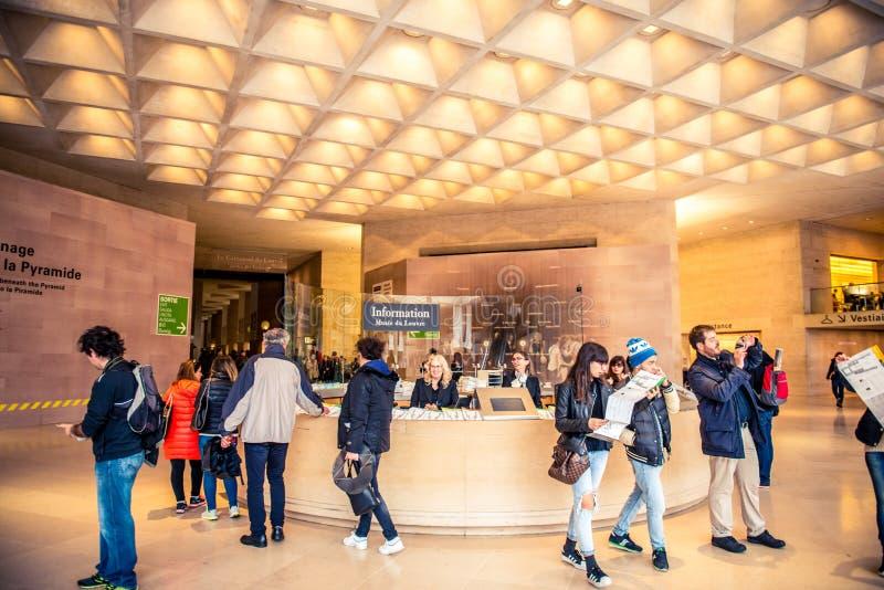 Ställning för information om Louvremuseum fotografering för bildbyråer