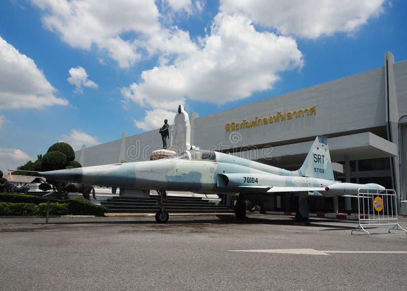 Ställning för Northrop RF-5A frihetskämpe royaltyfri fotografi