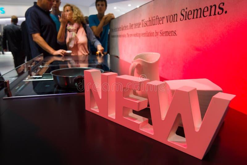 Ställning vid Siemens royaltyfria foton