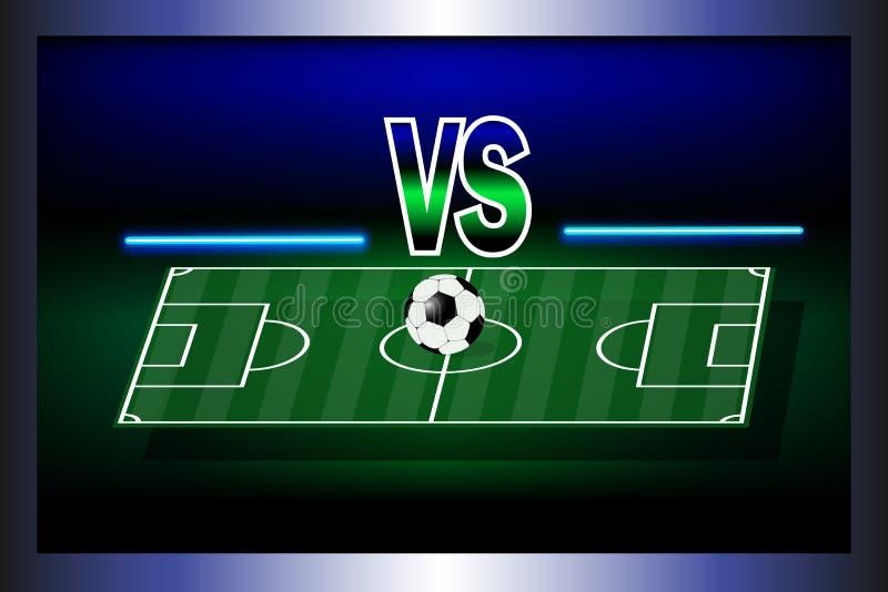Ställningbräde av fotbollsmatchen stock illustrationer