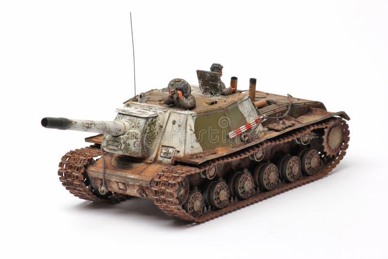 Ställningsmodell av en militär stridbehållare arkivfoto