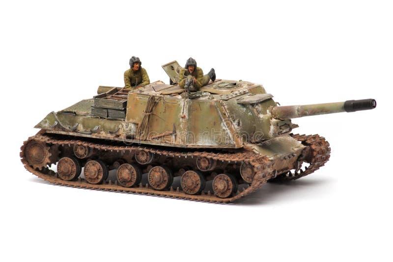 Ställningsmodell av en militär stridbehållare fotografering för bildbyråer