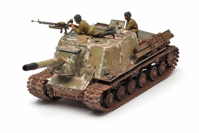 Ställningsmodell av en militär stridbehållare arkivbilder