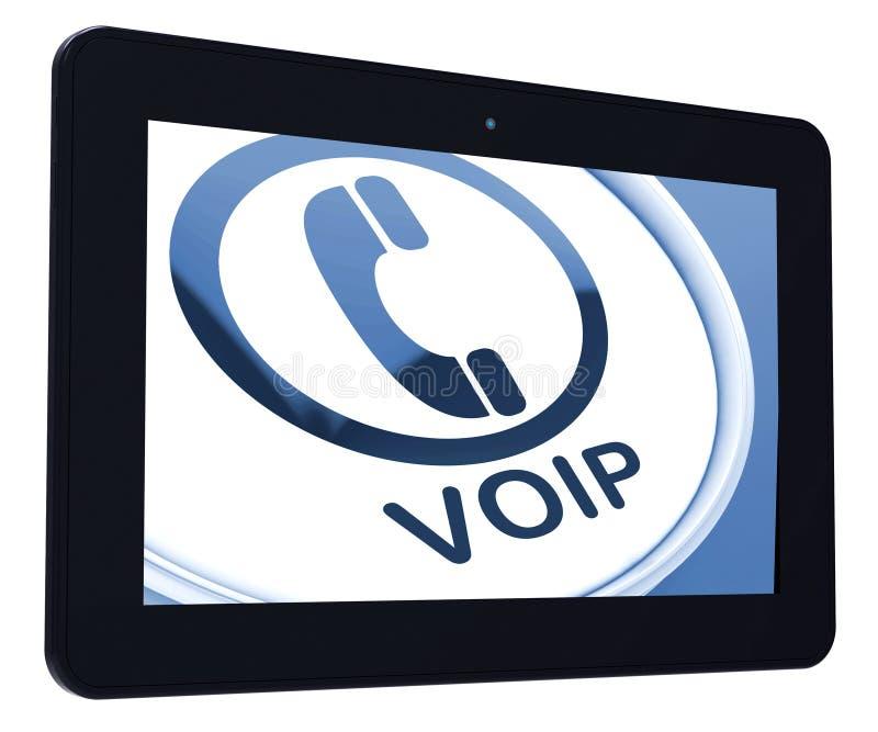 Stämma för Voip minnestavlahjälpmedel över Internet Protocol eller tele bredband royaltyfri illustrationer