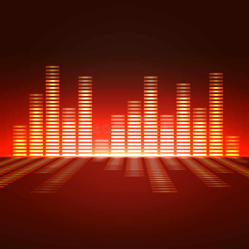 Stämma-frekvens utjämnare stock illustrationer