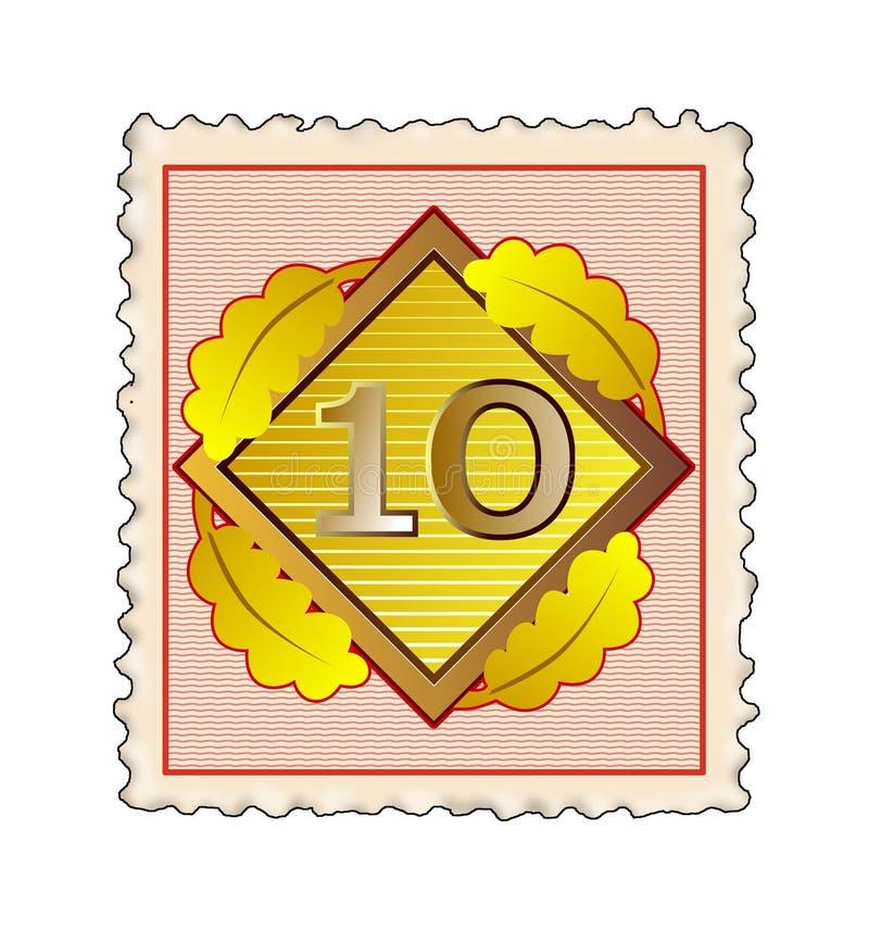 Download Stämpel för 10 nummer stock illustrationer. Illustration av tecken - 3545310