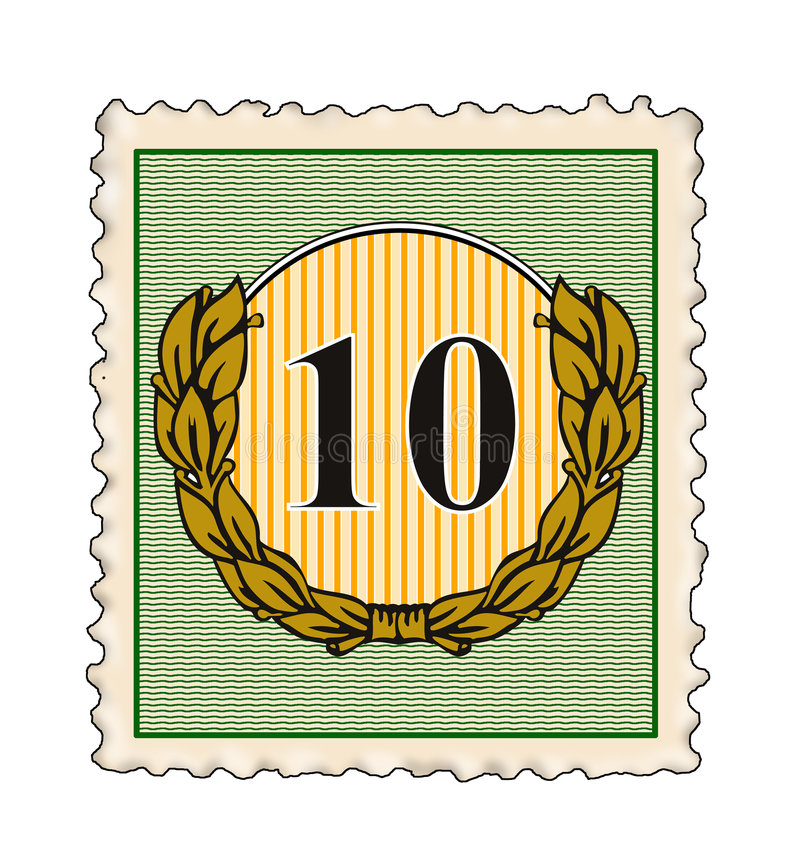 Download Stämpel för 10 nummer stock illustrationer. Illustration av logo - 3545356