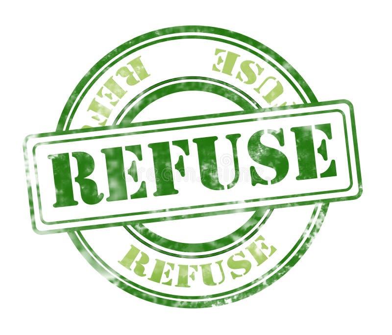 Stämpel för avskrädegrungegummi royaltyfri foto