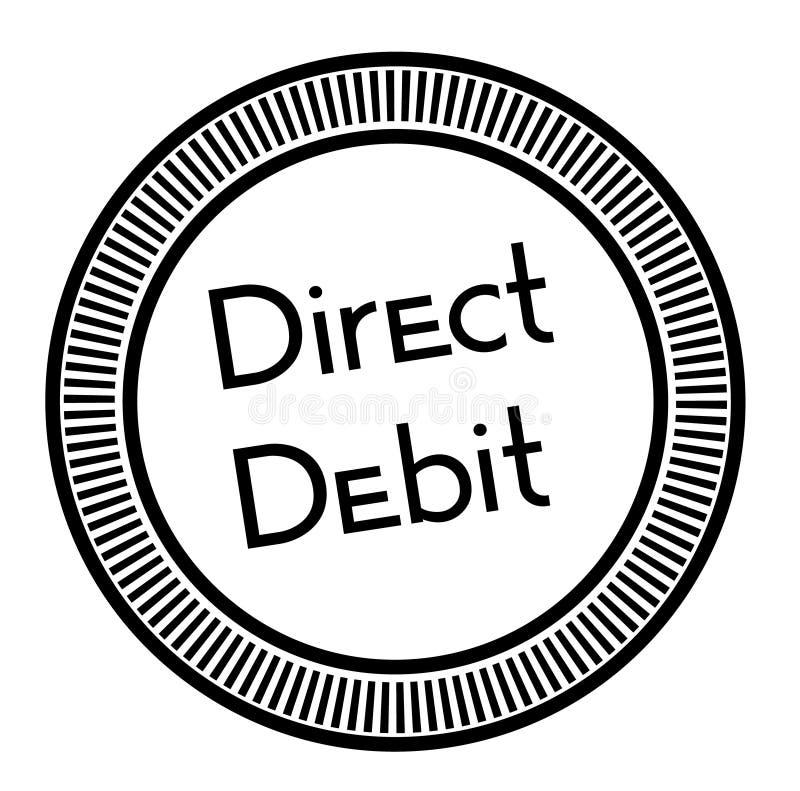 Stämpel för DIREKT DEBITERING på vit bakgrund royaltyfri illustrationer