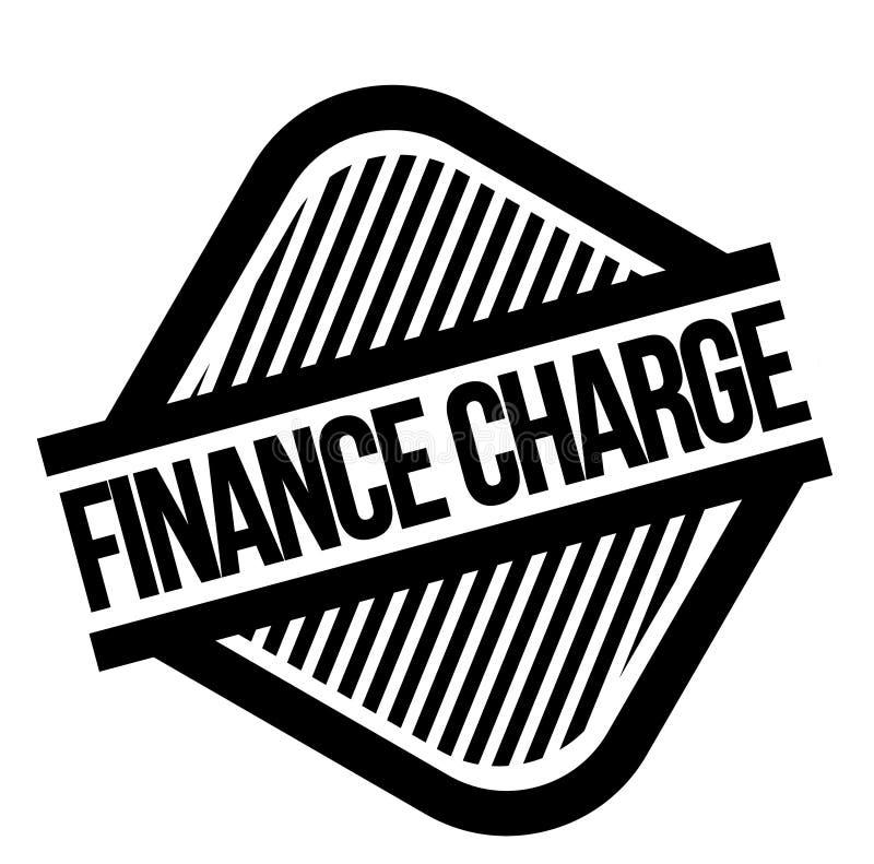 Stämpel för finansiell laddning på vit vektor illustrationer
