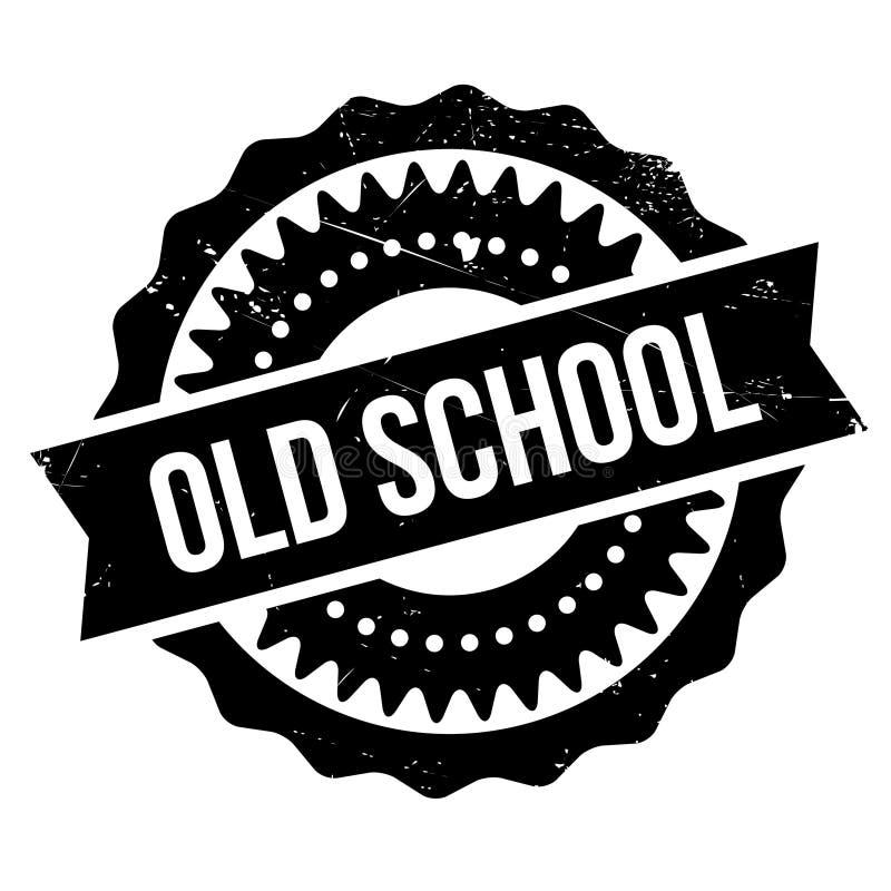 Stämpel för gammal skola royaltyfri illustrationer