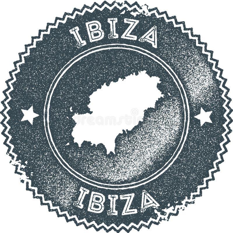 Stämpel för Ibiza översiktstappning stock illustrationer