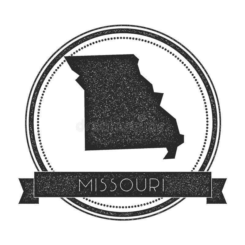 Stämpel för Missouri vektoröversikt royaltyfri illustrationer