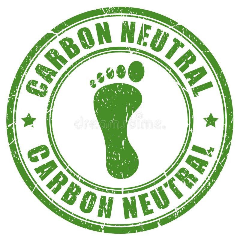 Stämpel för neutralt fotspår för kol rubber royaltyfri illustrationer
