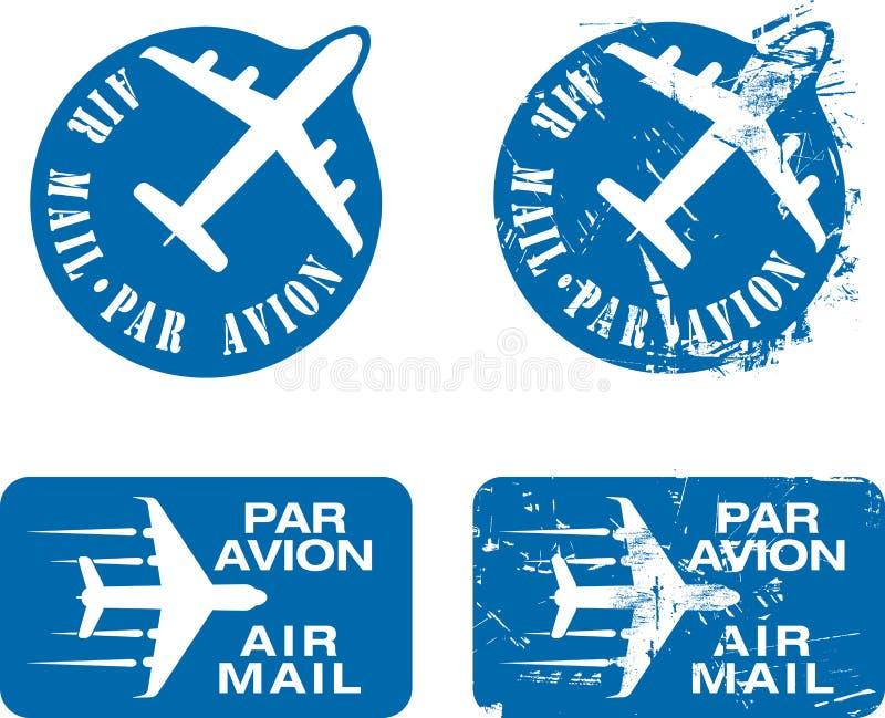 Stämpel För Par För Avion 03 Rubber Arkivbild