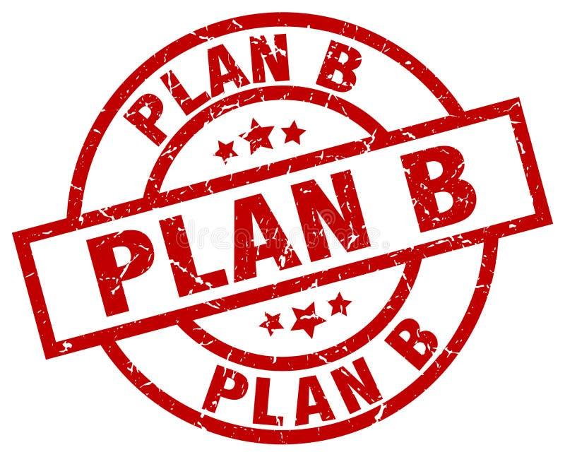 Stämpel för plan b vektor illustrationer