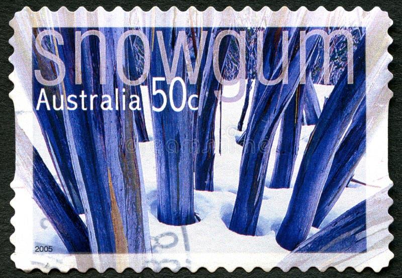 Stämpel för porto för snögummi australisk vektor illustrationer