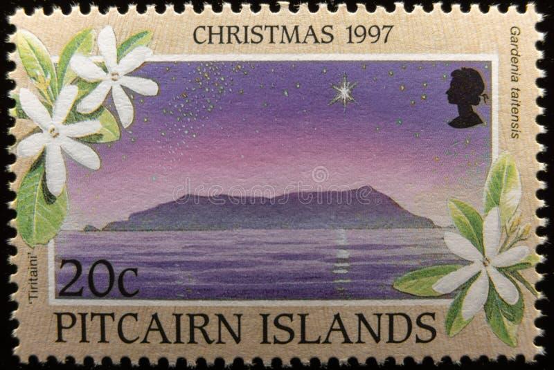 Stämpel för porto för Pitcairn öar jubileums- royaltyfri foto