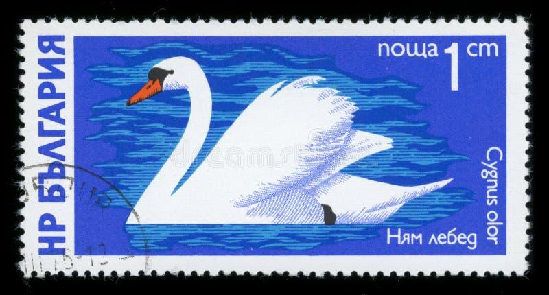 Stämpel för porto för serie för ` för Bulgarien`-vattenfågel, 1976 royaltyfri foto