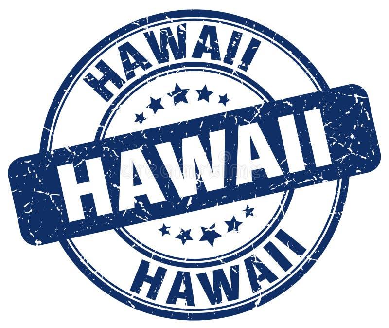 Stämpel för runda för Hawaii blåttgrunge vektor illustrationer